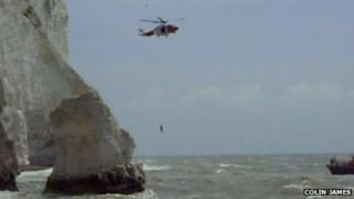 Rescue off Seaford's Splash Point