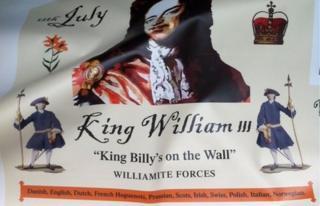 Proposed mural of William of Orange
