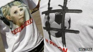Yulia Tymoshenko supporters in Kiev, Ukraine