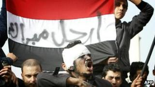 Egypt protestors, January 2011
