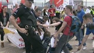 Coryton closure protest at Vopak