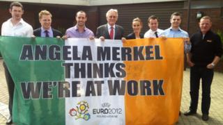 The Merkel Lads met the German ambassador to Ireland