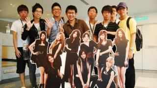 Young Malaysian Chinese at a K-pop fans event in Mutiara Damansara, north west of Malaysia's capital Kuala Lumpur