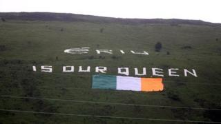 Sign on Belfast hillside