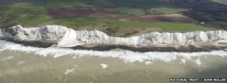 The white cliffs