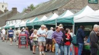 Farmers' market in Orton