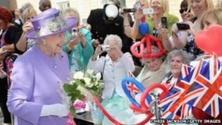 The Queen during Diamond Jubilee tour