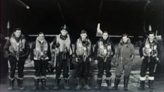 The crew of Lancaster ND410 PH-Y