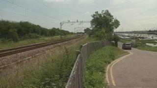 Site near where the man's body was found in Essex