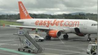 Engineer checks plane