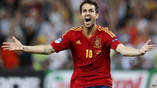 Cesc Fabregas celebrating