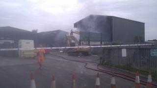 Basingstoke waste fire