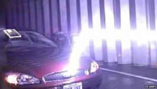 Laser-guided lightning gun