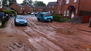 Lagmore Heights flood aftermath