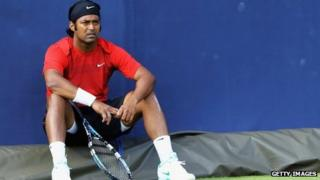 Leander Paes in London on 9 June 2012
