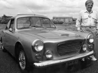 Giles Smith and a GT, the first Gilbern car he created with Bernard Friese