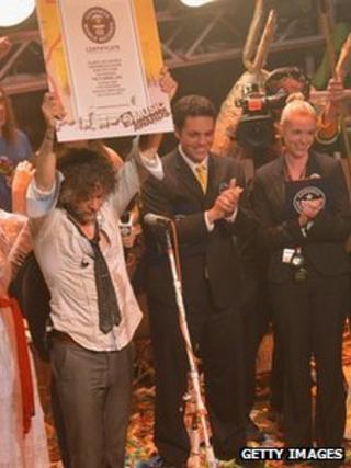 The Flaming Lips Wayne Coyne with his Guinness World Record