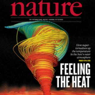 Groundbreaking: the front cover of the Nature Journal of Physical Sciences