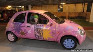 Car with graffiti