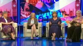 Annabel Goldie, Margaret Curran, Fiona Hyslop and Margo Macdonald