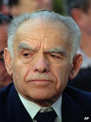 Yitzhak Shamir in May 1991