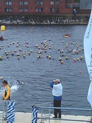 Liverpool Triathlon swim