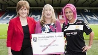 Nicola Sturgeon at launch of One Goal partnership