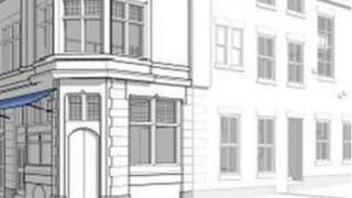Drawing by Lovelock Mitchell Architects of how the refurbished building will look