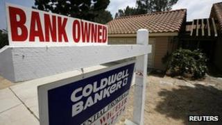 Foreclosure sign in California (file pic)