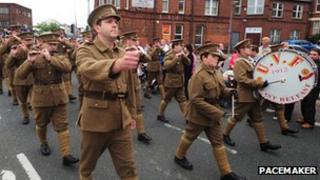 Somme commemoration in east Belfast