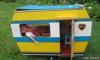Sindy in a caravan