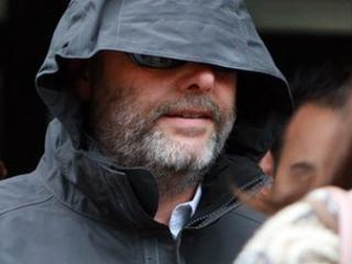 Edward Putman leaving St Albans Magistrates' Court