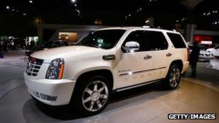 Cadillac Escalade SUV at a car show in Los Angeles (November 2007)