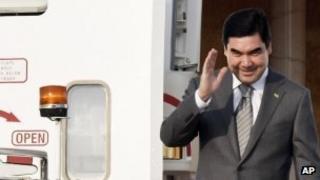 President Gurbanguli Berdymukhamedov in June 2012