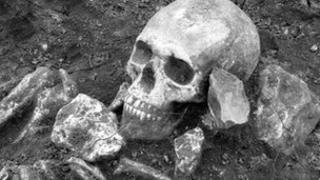 One of the Roman skeletons found at the site