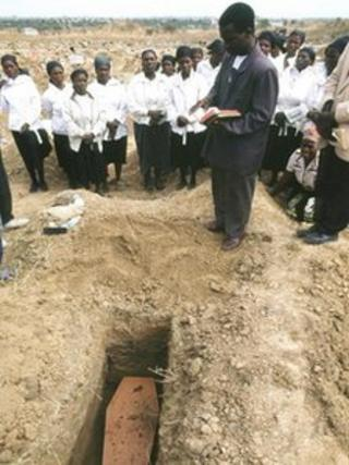 Funeral in Zambia - archive photo