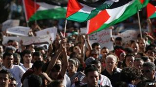 Protest against the Palestinian Authority in Ramallah (3 July 2012)