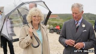 The royal couple visiting Scilly. Pic: Getty Images