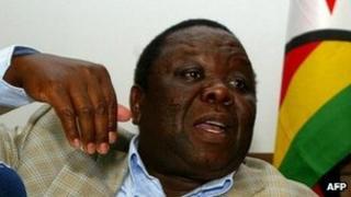 Morgan Tsvangirai photographed in September 2011