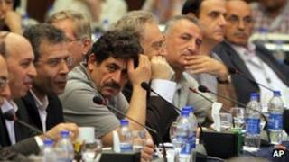 Meeting of Syrian opposition groups in Cairo (3 July 2012)