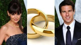 (left to right) Katie Holmes, gold wedding rings, Tom Cruise (Images: Getty/Thinkstock)