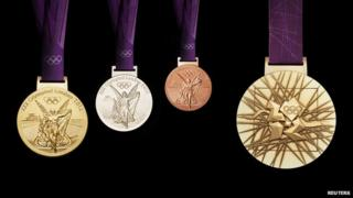 Olympic medals for London 2012