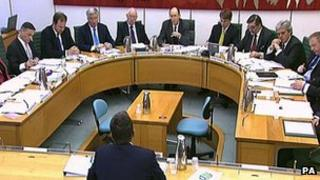 Bob Diamond being questioned by MPs on the Treasury select committee