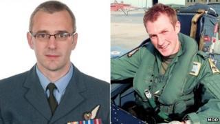 Sqn Ldr Samuel Bailey & Flt Lt Adam Sanders