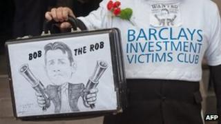 Barclays protestor