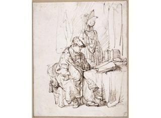 Rembrandt van Rijn, An Actor in His Dressing Room, circa 1638