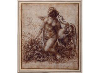 Leonardo da Vinci, Leda and the Swan, circa 1503 - 1504