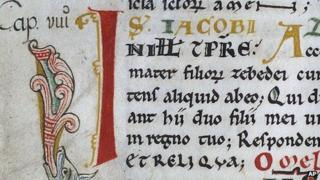 Detail of Codex Calixtinus manuscript