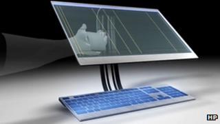 HP ThruScreen concept design