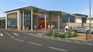 An artist's impression of how the development will look